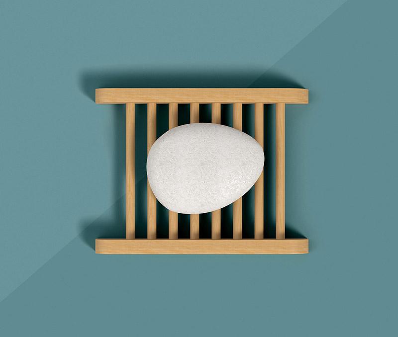 Wooden Pebble Dish